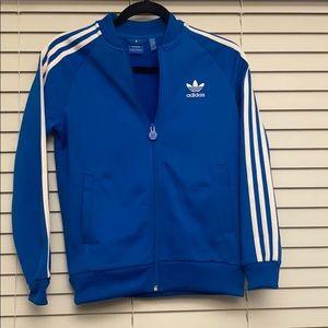 Adidas original three stripe electric blue zip